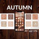 350 IOS 14 App Icons  Autumn Fall November Orange Red   Etsy