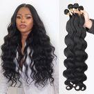 Body Wave bundles human hair Brazilian Natural Black Hair - 22 24 26  28 / United States