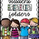 Editable Student Data Binder or Folder   Digital Student Tracking Sheets Google