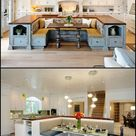 Kitchen island with built-in seating inspiration   The Owner-Builder Network
