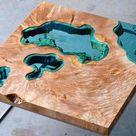 Epoxidharz Tisch selber beschichten / bauen   EPODEX