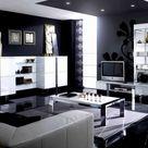 Wohnzimmer Design Schwarz-Weiß