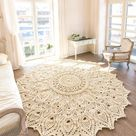 Pineapple Garden Doily Table Runner Vintage Crochet Pattern Oval Pineapple Doily Table Center Row by Row Pattern Instant Download PDF - 3950