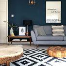 Dark coloured walls for Kate Beavis Your Vintage Life, vintage blogger, writer and speaker on homes,