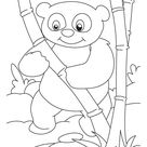 Bamboo lover panda coloring pages   Download Free Bamboo lover panda coloring pages for kids