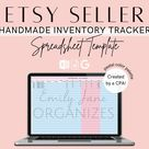 Inventory Tracker Spreadsheet - Inventory Purchases Bookkeeping Template for Handmade Etsy Sellers - Accounting Spreadsheet
