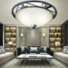 Decken Leuchte Antik Glas Wohn Schlaf Ess Zimmer Lampe Landhaus Stil rustikal  | eBay