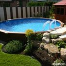 Basic Above-ground Pool Landscaping   InTheSwim Pool Blog