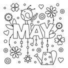 May Coloring Page • FREE Printable eBook