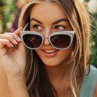 Cat Eye Sunglasses - Blue