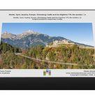 Reutte, Tyrol, Austria, Europe. Ehrenberg Castle and the Highline 179, the worlda€™s. 1000 Piece Puzzle. Reutte, Tyrol, Austria, Europe. Ehrenberg Ca.