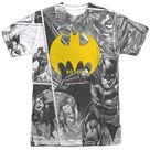 Batman DC Comics 80th Collage Sublimation T Shirt   One Sided / 2XL / White