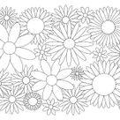 Blumen und Blüten - Ausmalbilder für Kinder