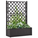 Garden Raised Bed with Trellis and Self Watering System Anthracite