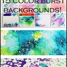 Ken Oliver Color Burst Background Techniques | Review & First Impressions | Mixed Media Art Journal