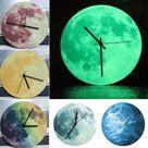Luminous Moon Wall Clock off new