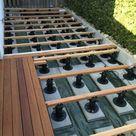 Bauanleitung für Holzterrasse: Unterkonstruktion verlegen