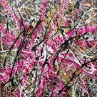 ORIGINAL abstract Jackson Pollock style medium contemporary street art urban pop art drip painting by Chris Riggs
