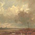Adolphe Mouilleron, 1880 - River view at night - fine art print - Canvas print / 120x80cm - 47x31