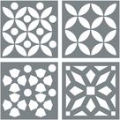 Morrocan Tile Stencil Set - Pack of Four 8x8 Tile Stencil Designs for Painting - Floor Stencils for Painting Tile - Stencil for Floor Painting - Walmart.com