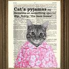 CAT'S PYJAMA'S: Humoristische vintage woordenboekafdruk
