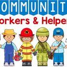 Community Helpers Activities and Worksheets Kindergarten PreK Preschool Learn at Home Homeschool