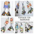Vintage Tin Earrings Retro Baseball Mom Gift 10th | Etsy