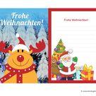 Weihnachtskarten basteln mit Kindern: kostenlose Vorlagen zum Ausdrucken und Ideen