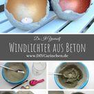 DIY Windlichter aus Beton ganz einfach selber machen - die perfekte Gartendeko - DIYCarinchen   DIY Blog
