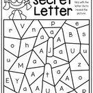 Alphabet Worksheets - Secret Letters - Distance Learning