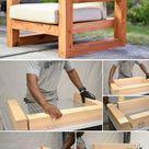 Einfaches DIY Holz Patio Stuhl Projekt