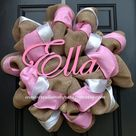 Baby Girl Wreaths