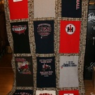 Made from t-shirts purchased off of a clearance rack at the local Tractor Supply Store