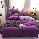 Aloe Cotton Duvet Cover - Purple / 2m (6.6ft) bed