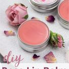 Homemade Rose Lip Balm - Easy DIY Tinted Lip Balm Recipe with Coconut Oil + Printable Gift Labels