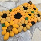 Filzsteinteppich Sonnenblume   Etsy