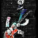 Beautiful Dave Grohl Foo Fighters Music Print