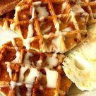 Waffle Cinnamon Rolls