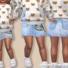 Pinkzombiecupcakes' Denim Skirt 03 For Toddler Girls