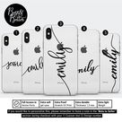 Personalised iphone 12, iphone 12 mini iphone 11 iphone xr iphone 8 Ascetic Gift for her Custom name initials iPhone SE iphone 8 plus
