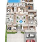 House Design Plans 3d 4 Bedrooms 2021   ludicrousinlondon.com