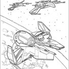 Eta-2 starfighter and T-65 X-wing coloring page   Free Printable Coloring Pages