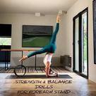 Forearm stand yoga pose drills