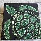 Turtle Dot Painting - Dots By Dana