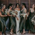 Simple V neck Side Slit Cheap Short Bridesmaid Dresses,SFWG00361   US18 / Picture color
