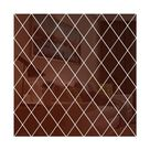 17/32/58Pcs DIY 3D Mirror Wall Stickers   brown / 50x100cm 32pcs