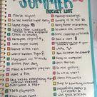 2021 Summer Bucket List