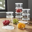 Clear Glass Bowl with Lid Set of 12 + Reviews | Crate and Barrel