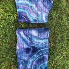 Blue Tie Dye Geode Crop Top Skirt Set   Size Small   Boho, hippie, festival, rave clothing