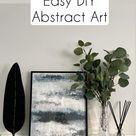 Easy DIY abstract artwork